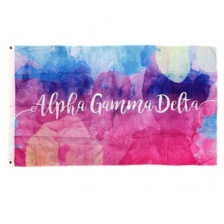 Alpha Gamma Delta Watercolor Sorority Flag