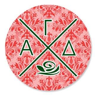 Alpha Gamma Delta Well Balanced Round Decals