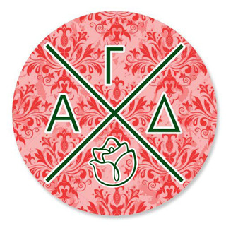 Alpha Gamma Delta Well Balanced Round Decals