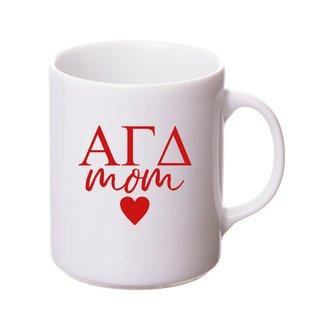 Alpha Gamma Delta White Personalized Coffee Mug