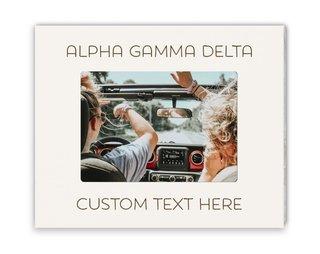 Alpha Gamma Delta Whitewash Picture Frame