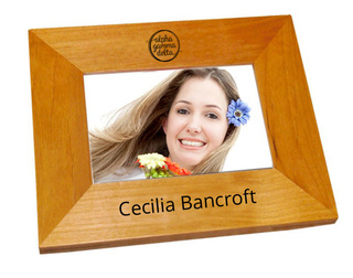 Alpha Gamma Delta Mascot  Wood Picture Frame