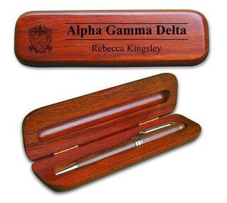 Alpha Gamma Delta Wooden Pen Set