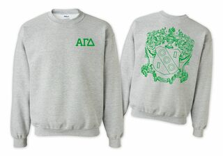Alpha Gamma Delta World Famous Crest - Shield Crewneck Sweatshirt- $25!