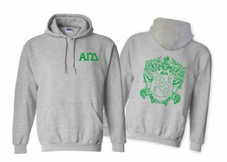 Alpha Gamma Delta World Famous Crest Hooded Sweatshirt- $35!