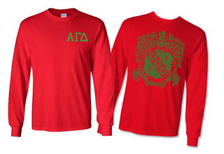 Alpha Gamma Delta World Famous Crest Long Sleeve T-Shirt- $19.95!- MADE FAST!