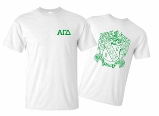 Alpha Gamma Delta World Famous Greek Crest T-Shirts - - MADE FAST!