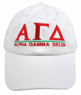 Alpha Gamma Delta World Famous Line Hat - MADE FAST!