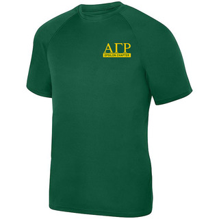 Alpha Gamma Rho- $15 World Famous Dry Fit Wicking Tee