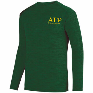 Alpha Gamma Rho- $26.95 World Famous Dry Fit Tonal Long Sleeve Tee