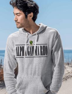 Alpha Gamma Rho Line Crest Lucas Loop Fleece Hood