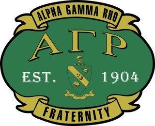 Alpha Gamma Rho Banner Crest - Shield Decal