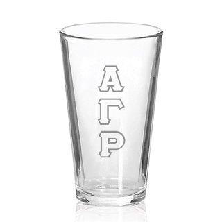 Alpha Gamma Rho Big Letter Mixing Glass