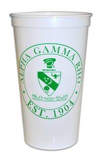 Alpha Gamma Rho Big Plastic Stadium Cup