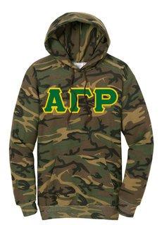 DISCOUNT-Alpha Gamma Rho Camo Pullover Hooded Sweatshirt
