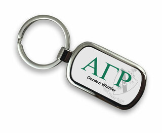 Alpha Gamma Rho Chrome Crest - Shield Key Chain