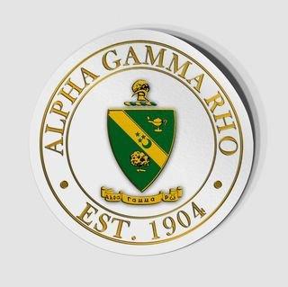 Alpha Gamma Rho Circle Crest - Shield Decal