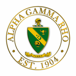 Alpha Gamma Rho Circle Crest - Shield Decal
