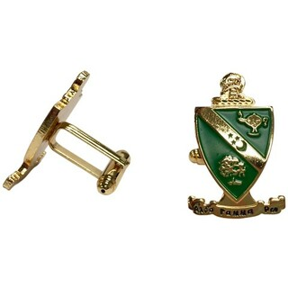 Alpha Gamma Rho Color Crest - Shield Cuff links-ON SALE!