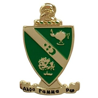 Alpha Gamma Rho Color Crest - Shield Pins
