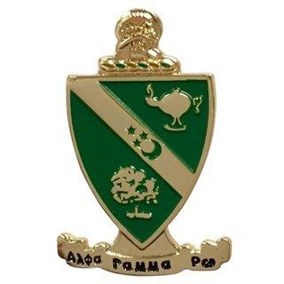 Alpha Gamma Rho Color Crest - Shield Pins