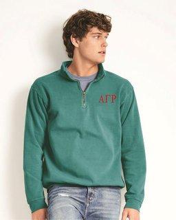 Alpha Gamma Rho Comfort Colors Garment-Dyed Quarter Zip Sweatshirt