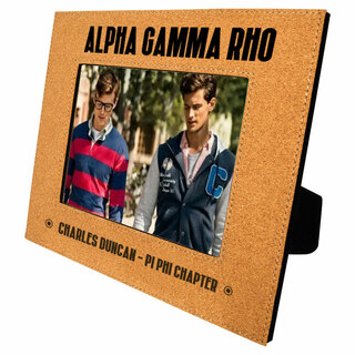 Alpha Gamma Rho Cork Photo Frame