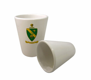 Alpha Gamma Rho Crest Ceramic Collectors Glass