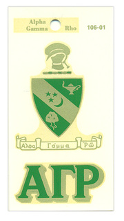 Alpha Gamma Rho Crest - Shield Decal