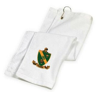 DISCOUNT-Alpha Gamma Rho Crest - Shield Golf Towel