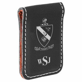 Alpha Gamma Rho Crest Leatherette Money Clip