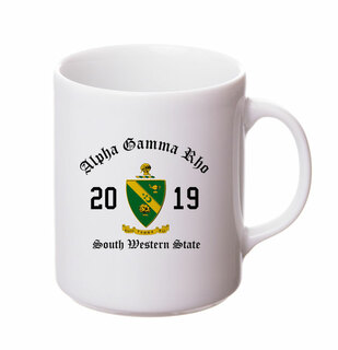 Alpha Gamma Rho Crest & Year Ceramic Mug