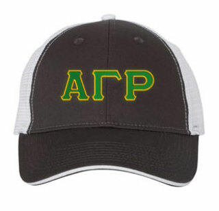 Alpha Gamma Rho Double Greek Trucker Cap