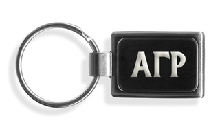 Alpha Gamma Rho Engraved Chrome Keychains
