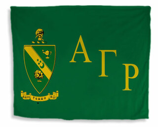Alpha Gamma Rho Flag Giant Velveteen Blanket