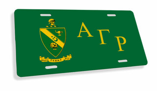 Alpha Gamma Rho Flag License Cover