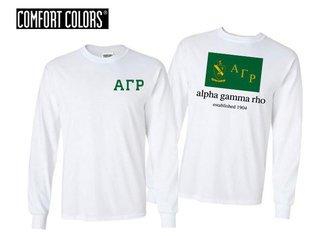 Alpha Gamma Rho Flag Long Sleeve T-shirt - Comfort Colors