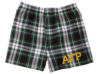 Alpha Gamma Rho Flannel Boxer Shorts