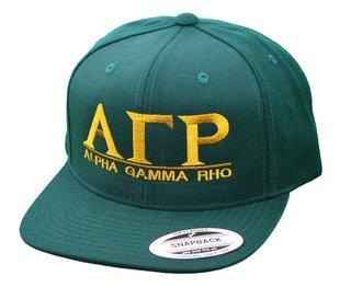 Alpha Gamma Rho Flatbill Snapback Hats Original