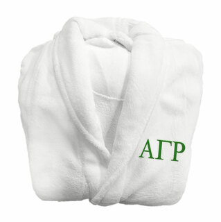 Alpha Gamma Rho Fraternity Lettered Bathrobe