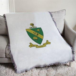 Alpha Gamma Rho Full Color Crest Afghan Blanket Throw