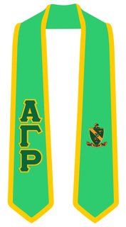 Alpha Gamma Rho Greek 2 Tone Lettered Graduation Sash Stole