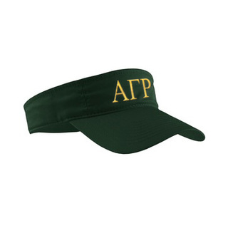 Alpha Gamma Rho Greek Letter Visor