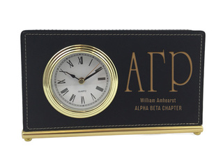 Alpha Gamma Rho Horizontal Desk Clock