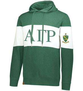 Alpha Gamma Rho Ivy League Hoodie W Crest On Left Sleeve
