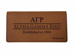 Alpha Gamma Rho Leatherette Checkbook Cover