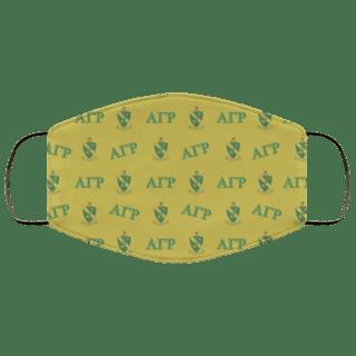 Alpha Gamma Rho Letter Crest Face Masks