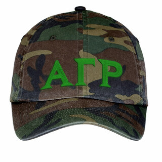 Alpha Gamma Rho Lettered Camouflage Hat