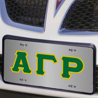 Alpha Gamma Rho Lettered License Cover