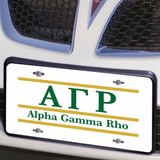 Alpha Gamma Rho Lettered Lines License Cover